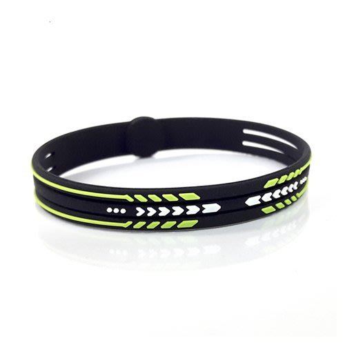 能量手環-三條式手環-綠色(19cm)【ISB16-ZOL】