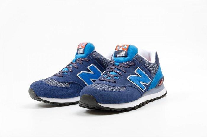 運動go~ NEW BALANCE 紐巴倫 慢跑鞋休閒鞋 麂皮 海藍 ML574UTA 情侶款US5~11