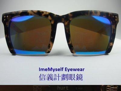 【信義計劃眼鏡】LASH hurt 太陽眼鏡 手工眼鏡 水銀鍍膜 膠框 下無框 超越 GM Gentle Monster