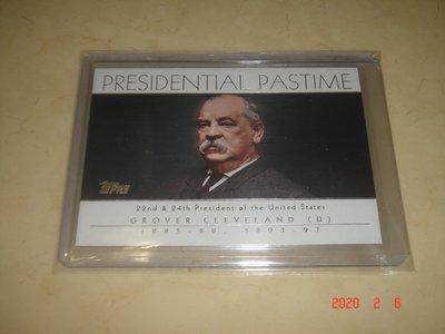 美國總統 Grover Cleveland 04 ToppsPresident Pastime #PP22 球員卡