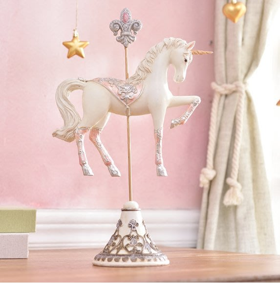 可愛木馬生日禮物臥室童話創意擺設幼稚園兒童房間裝飾品小擺件