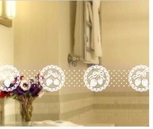 小妮子的家@韓國進口草莓蕾絲玻璃.鏡面.瓷磚防曬防水透明腰線.玻璃貼膜LB-014