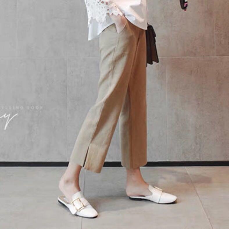 棉麻直筒舒服透氣長褲〰️大碼可。qwa125 ❤️特價品❤️