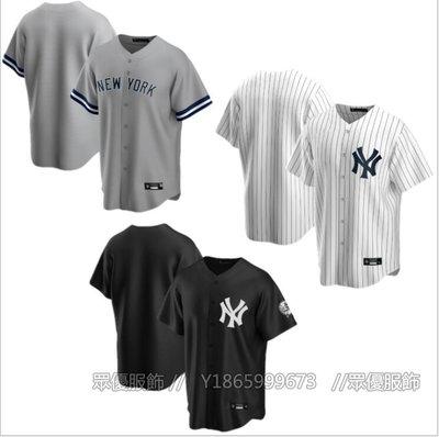 【眾優服飾】2020年新款 MLB球衣 NY紐約洋基隊 2020空白版棒球球衣 外貿貨源