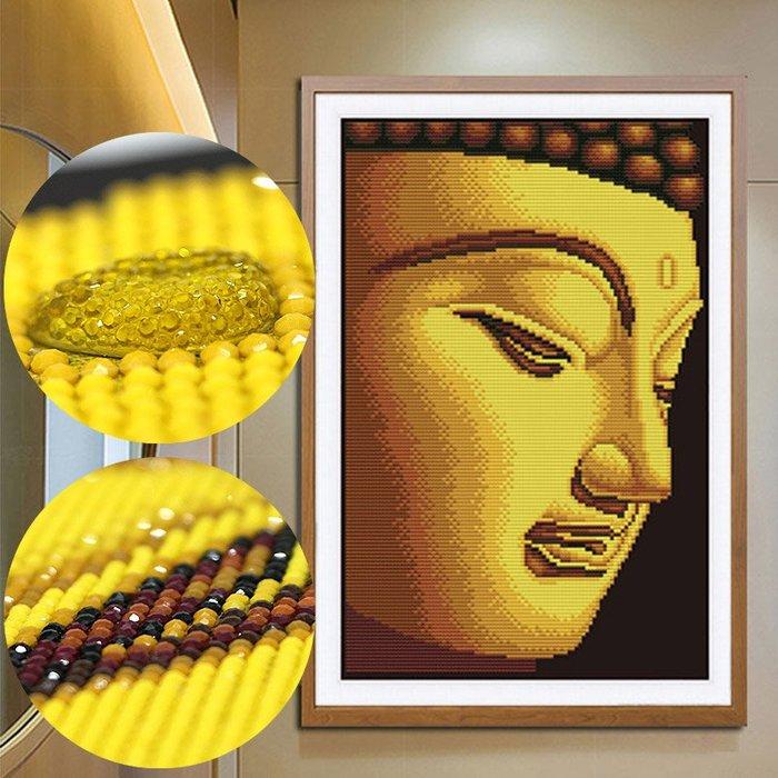 奇奇店-新款鑽石畫客廳金佛簡約現代滿鑽貼鑽十字繡佛像如來佛祖
