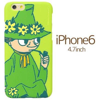 尼德斯Nydus~* 日本正版 嚕嚕米 Moomin 硬殼 手機殼 4.7吋 iPhone6 -流浪詩人 史力奇(綠)