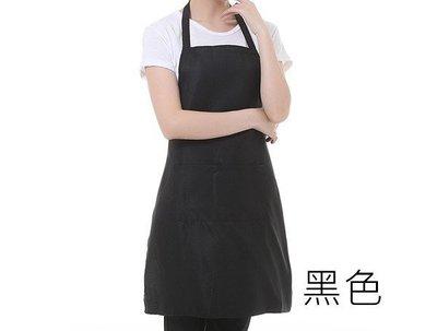 基本套脖型 時尚素面 成人廚房圍裙/大人勞作衣/園藝工作服/簡餐咖啡店制服/幼兒園老師 黑色