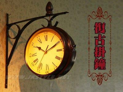 歐式復古 掛鐘 田園風 壁鐘【HT36】