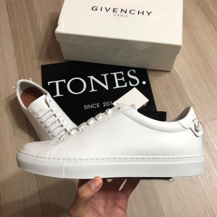 【TONES.】Givenchy 19SS 全皮革 Logo 小白鞋