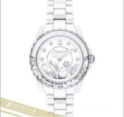 雅格時尚精品代購 COACH 寇馳 時尚百搭  至簡至美新款陶瓷手錶 美國代購