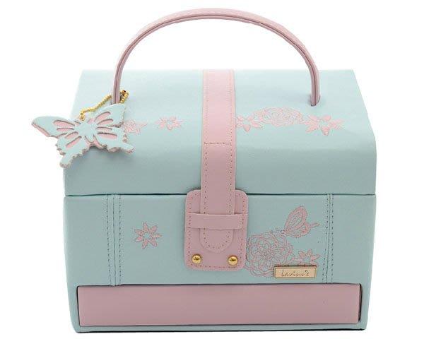 5Cgo【鴿樓】會員有優惠  35689076937 新年禮物歐式公主蝶舞方型首飾盒 結婚飾品盒收納盒 戒指項鏈盒