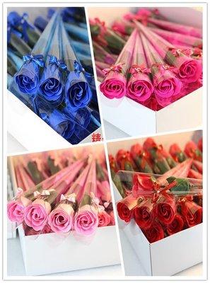 ∞☆卡米特創意禮品☆∞情人節單支玫瑰香皂花(五色)(送姓名貼)☆婚禮小物、玫瑰花束、二次進場、畢業花束、送客禮~