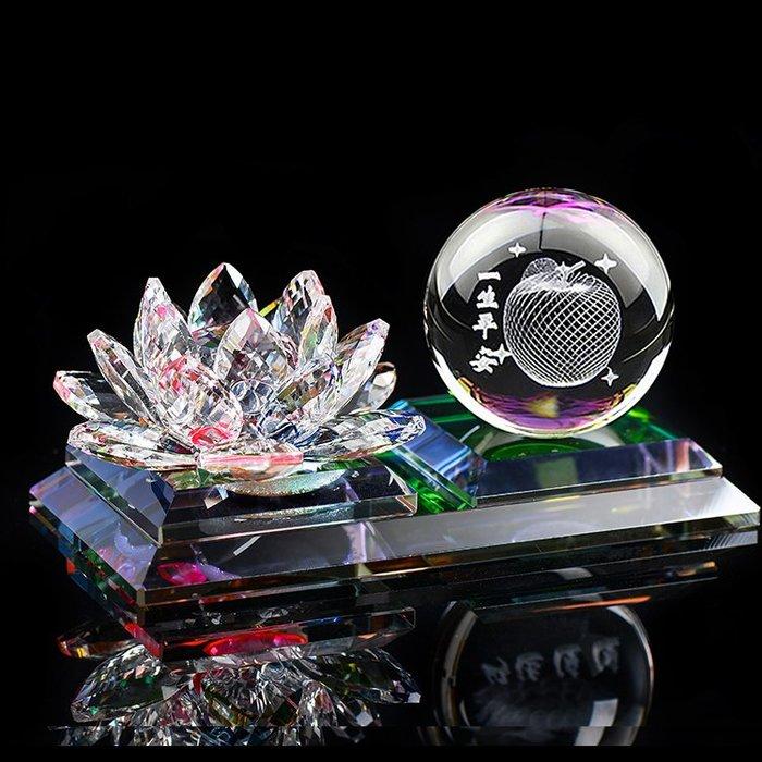 解憂zakka~ 汽車香水座水晶蓮花擺件車載飾品小轎車用品車上平安車內創意禮品#擺件#汽車香水