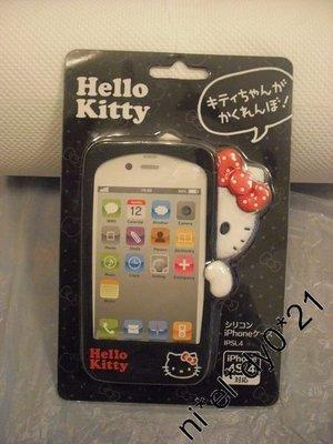 HELLO KITTY 黑底色 CUTE 公仔 IPhone 保護殼
