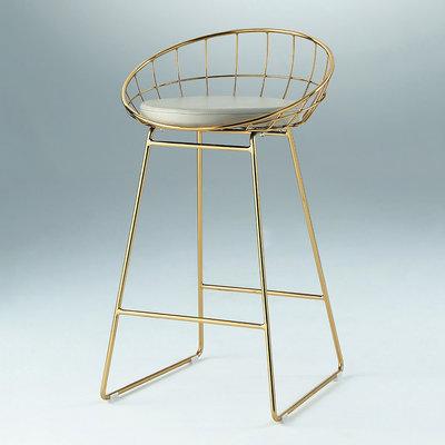 【在地人傢俱】20 幸福購-XD-468L電鍍金色腳皮面吧台椅/高腳餐椅/休閒椅 CS916-3