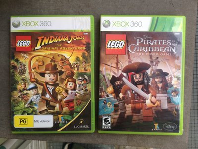 Lego Indiana Jones + Disney Pirates of the Caribbean xbox 360 xbox360/ONE game
