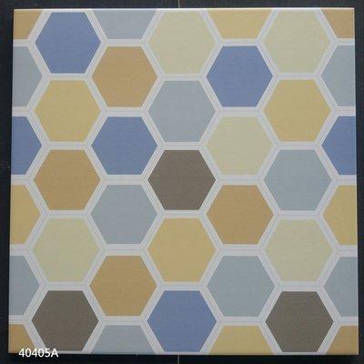 [磁磚之嘉] 40*40 彩色六角形復古磚 地.壁兩用