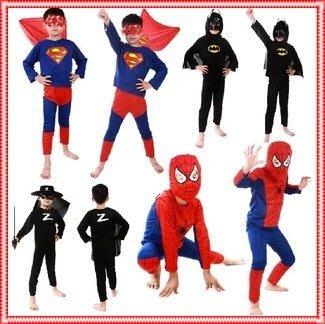 艾莉小舖~萬聖節服裝,萬聖節裝扮,變裝派對,兒童變裝服-蜘蛛俠.超人.蝙蝠俠.蒙面俠蘇洛