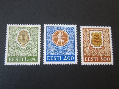 【雲品】愛沙尼亞Estonia 1994 Sc 266-68 set MNH 庫號#B521 77046