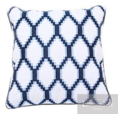【 LondonEYE 】NeoClassic新古典X奢華織品系列X抱枕套 優質純棉面料X進口菱格紋 豪宅/CN11