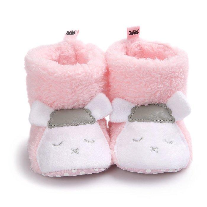 森林寶貝屋~粉小羊造型雪鞋~學步鞋~保暖鞋~寶寶鞋~幼兒鞋~童鞋~學走鞋~保暖舒適~彌月贈禮~特價1雙135元
