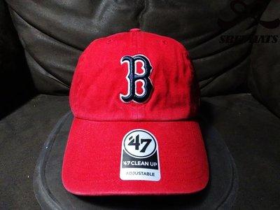 [SREY帽屋]預購*47 Brand CLEAN UP MLB 波士頓紅襪 紅底黑標 美國限定 棒球帽 老帽