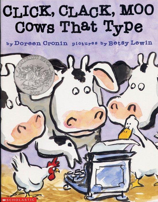 *小貝比的家*CLICK, CLACK, MOO COWS THAT TYPE [汪培珽英文書單]平裝/3~6歲
