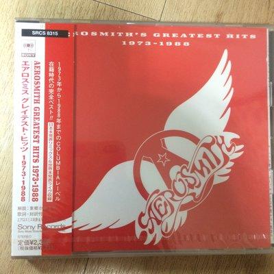 史密斯飛船 Aerosmith's  Greatest Hits 1973-1988 日本版 全新未開