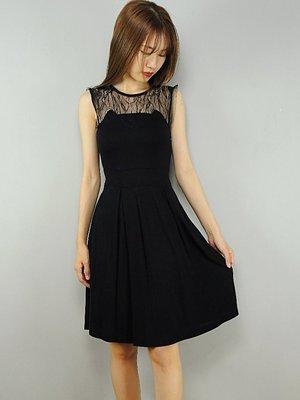 TOPSHOP 蕾絲鬚鬚袖口氣質洋裝, UK8/S (GD2273)