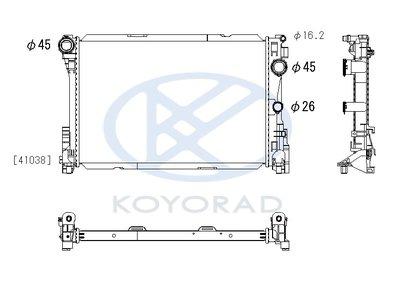 日本KOYORAD BENZ W203 CLS W212 2002- 原廠型水箱 PL413011