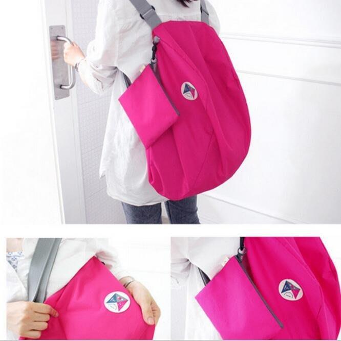 多功能旅行 逛街 購物 折疊收納包 後背包 收納袋 購物袋 單肩包 胸包 收納包【SB0026】