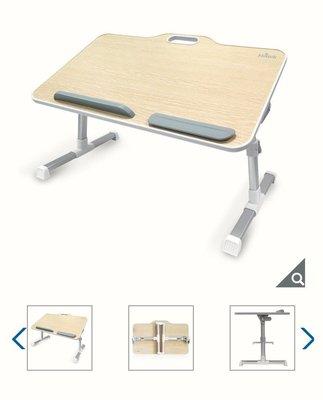 【多娜小鋪】Hawk 手提式多功能摺疊桌 T626 淺色/T626摺疊桌、筆電防落墊、滑鼠矽膠護腕墊、產品說明書、原廠彩盒/好市多代購