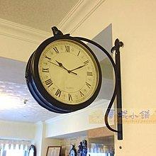 095 華城小鋪 田園 靜音 歐式 美式 民宿 飾品 鄉村 時鐘 造型. 簡約小鳥雙面鐘