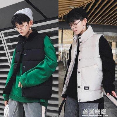 馬甲-棉馬甲男秋冬季韓版潮學生馬夾男士加厚背心外套青少年羽絨棉坎肩