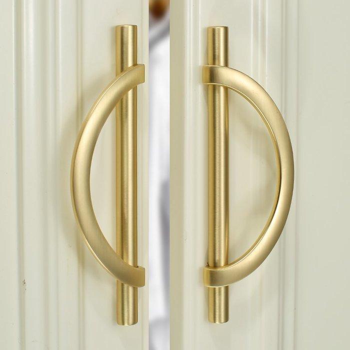 新品上市#金色衣柜門拉手輕奢現代簡約衣柜櫥柜門把手抽屜浴室柜子把手對裝#把手#拉手