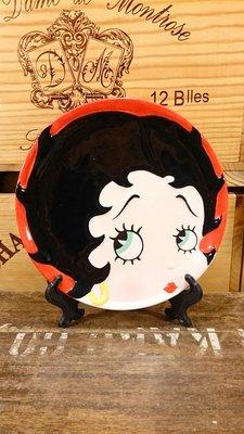 Betty Boop/貝蒂娃娃陶瓷展示紀念盤(暇疵品出售):貝蒂娃娃 收藏 卡通 懷舊 展示盤 陶瓷 公仔 玩偶 禮品