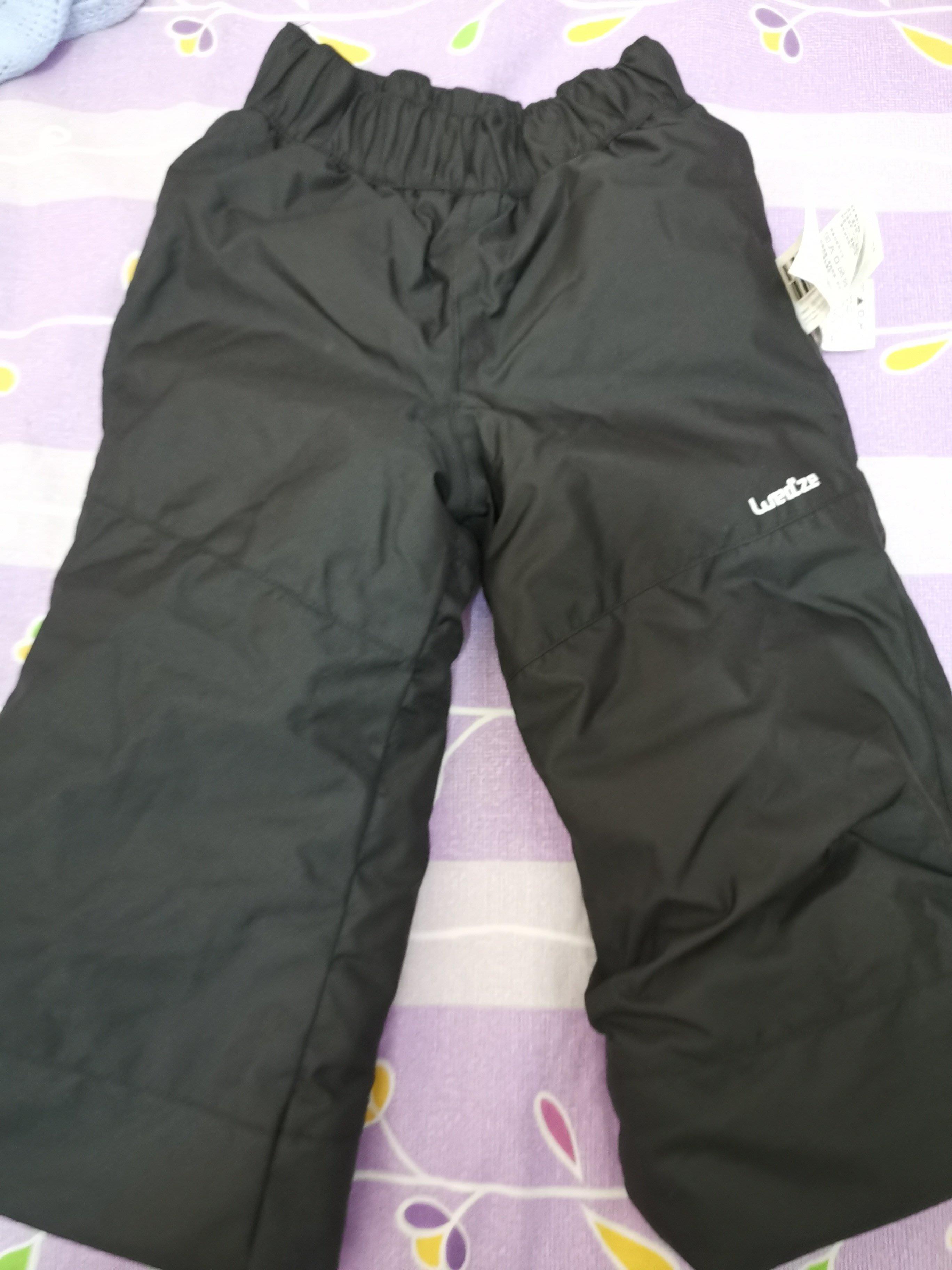 迪卡儂兒童防水雪褲90cm
