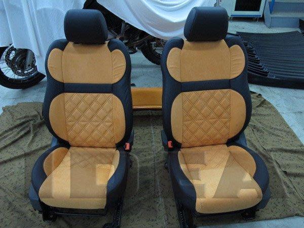 泰山美研社E112 FORD FOCUS 日式菱格紋設計皮椅 可依照喜愛款式改裝