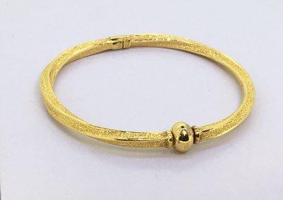 【JHT 金宏總珠寶/GIA鑽石】5.05錢/直徑5.05cm 黃金手環 (請詳閱商品描述)