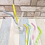 ☆[Hankaro]☆ 創意環保可重複使用炫彩矽膠吸管套裝組6件+1刷子