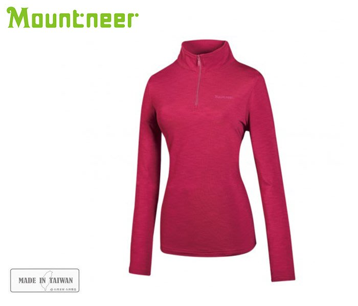 丹大戶外【Mountneer】女遠紅雲彩保暖上衣 32P12-40  玫瑰紅