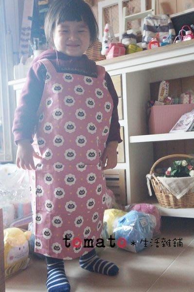 ˙TOMATO生活雜鋪˙日本進口雜貨棉質彩色星星黑貓雲朵親子款圍裙