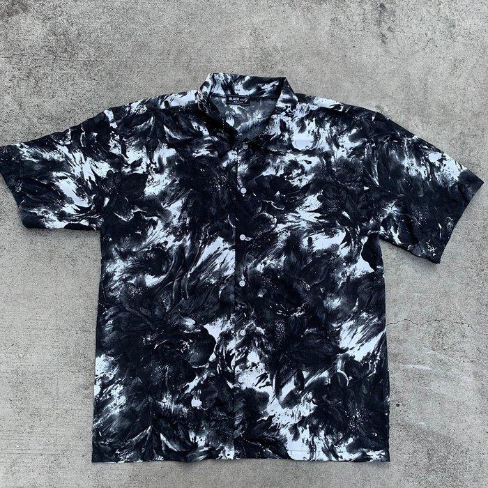 【inSAne】韓國購入 / 渲染 / 滿版 / 花襯衫 / 單一尺寸 / 黑色
