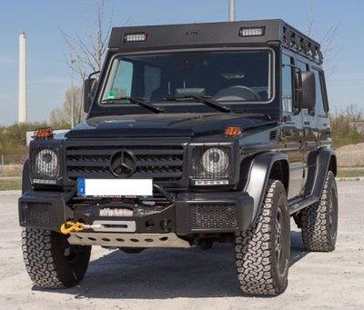 賓士 Benz G卡 W463 G350d 前置絞盤托架無損安裝方案 超高強度 WARN尼龍繩絞盤