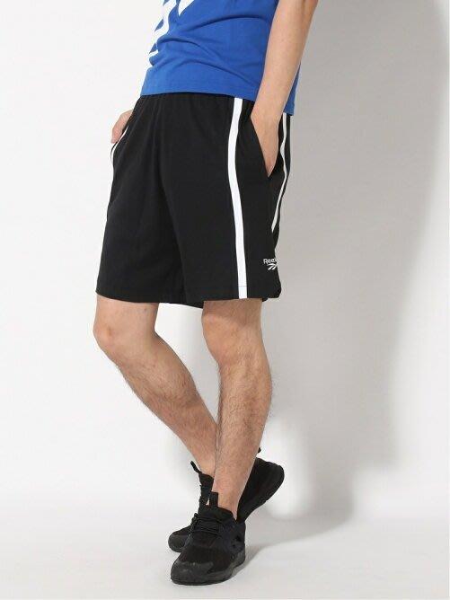 FOCA  Reebok VECTOR  黑白 黑色 滾邊 籃球褲 運動褲  男款  FK2541 棉褲 棉短褲 棉質