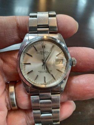 勞力士古董錶1500附原裝證明書,收藏品(已交流)