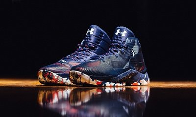 Under Armour Curry-2.5 Hoop Nation 1274425-411藍紅白塗鴉奧運美國國家隊UA