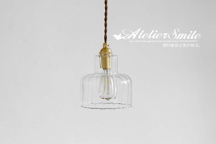 [ Atelier Smile ] 鄉村雜貨 日本直送 復古黃銅 十字玻璃 手工吊燈 純銅製配件 民宿 咖啡廳 # 免運