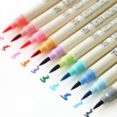 彩色水彩筆軟頭秀麗筆毛筆10色套裝兒童...