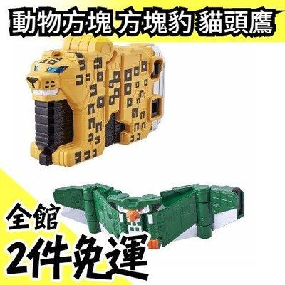 【方塊豹+貓頭鷹】空運 日本 空運 日版原裝 萬代BANDAI 動物戰隊 獸王者 動物方塊 合體多件組【水貨碼頭】